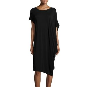 Eileen Fisher Asymmetric silk jersy dress